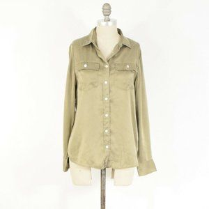 J.Crew Dusty Gold Washed Silk Button-Down